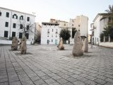 Statue of Nivola in Piazza Sebastiano Satta